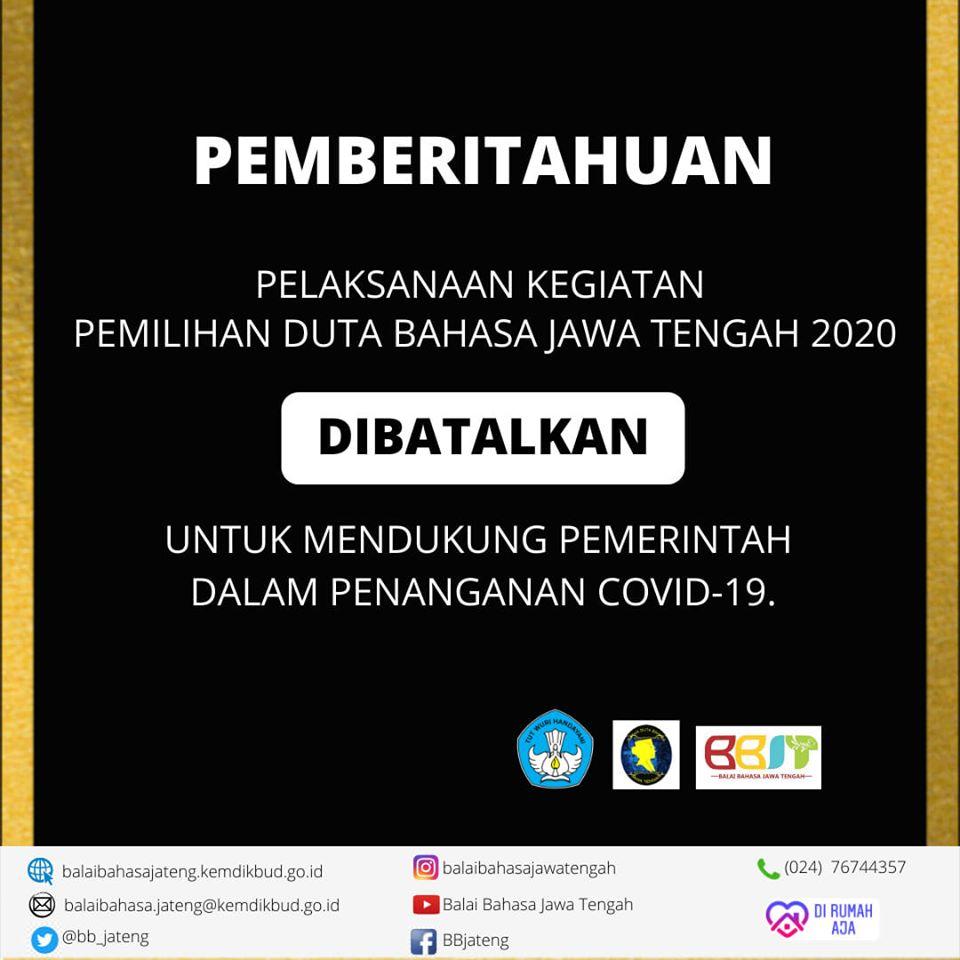 Pemilihan Duta Bahasa Jawa Tengah 2020